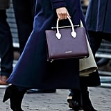 Meghan Markle Wearing the Strathberry Midi Leather Tote