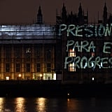 International Women's Day Projections on Parliament