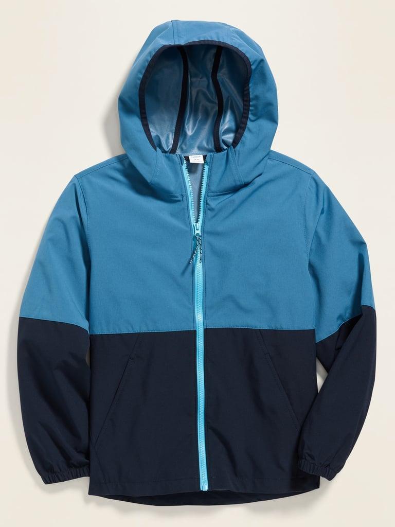 Old Navy Color-Blocked Built-In Flex Hooded Zip Jacket