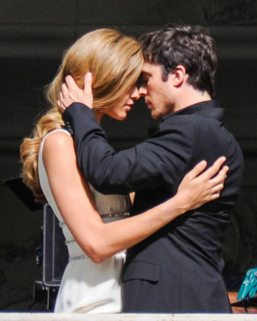 Ian Somerhalder got steamy on the set of an Italian campaign shoot in Lake Como, Italy, on Wednesday.