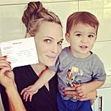 Molly Sims celebrated Brooks's 15-month checkup. Source: Instagram user mollybsims