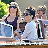 Sandra Bullock cuddled with her son, Louis.