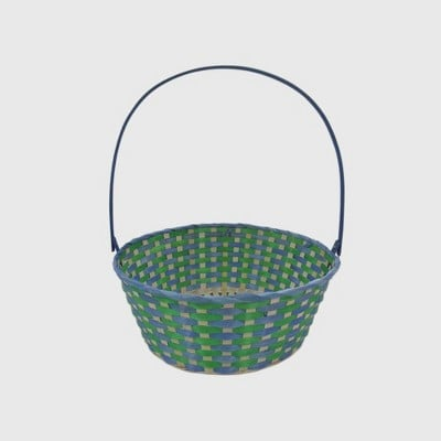 Bamboo Easter Basket Blue and Green