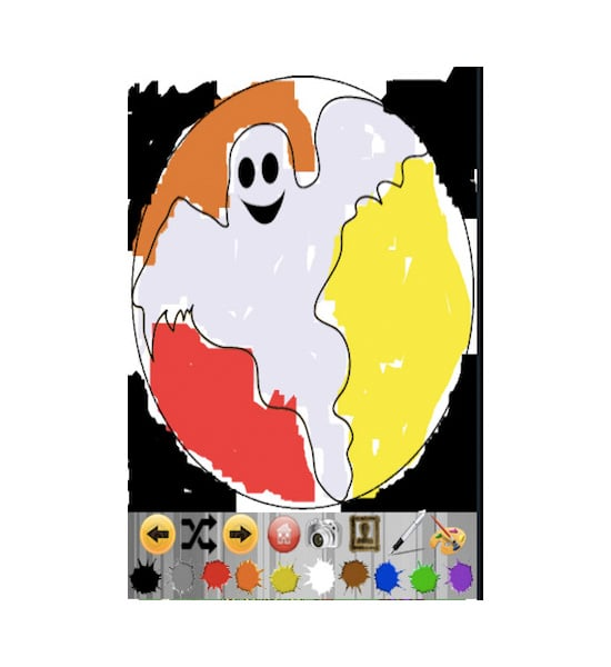 Kids Finger Painting — Halloween