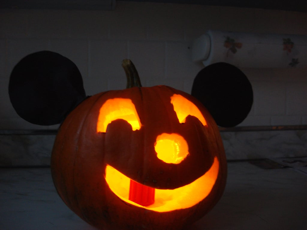 Mickey Mouse Ears Pumpkin