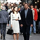Olivia Wilde and Liam Neeson were in Rome filming.