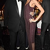 With Mario Testino at a gala in Oxfordshire, England on Dec. 2.
