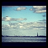 The space shuttle as NYC tourist.  Source: Instagram User espanzer