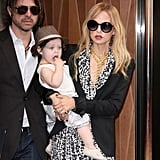 Rachel Zoe, Rodger Berman, and Skyler Berman left the Trump SoHo hotel in NYC.
