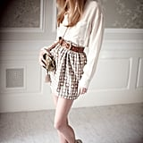 Thea Shirt, Toni Skirt, Jane Belt, Kara Evening Bag
