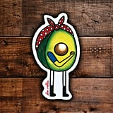 Thick Skinned Avocado Sticker