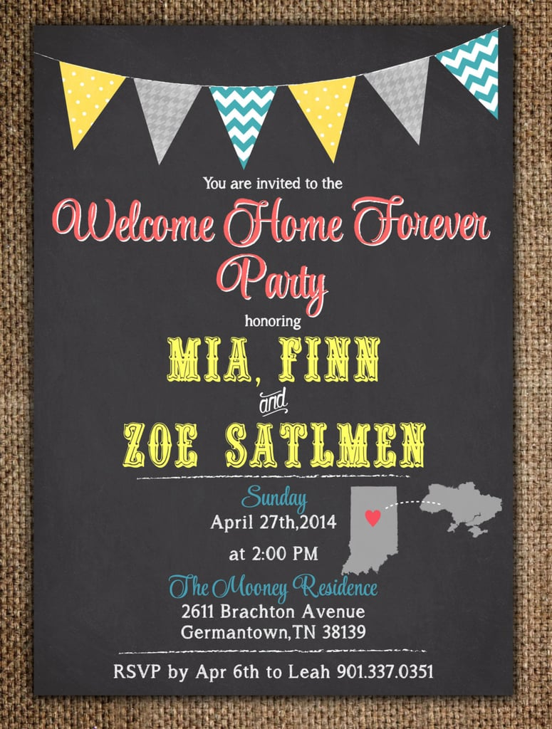 hosting a welcome home forever party - Adoption Party Invitations