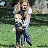 Hilary Duff took her son, Luca, to an LA park.