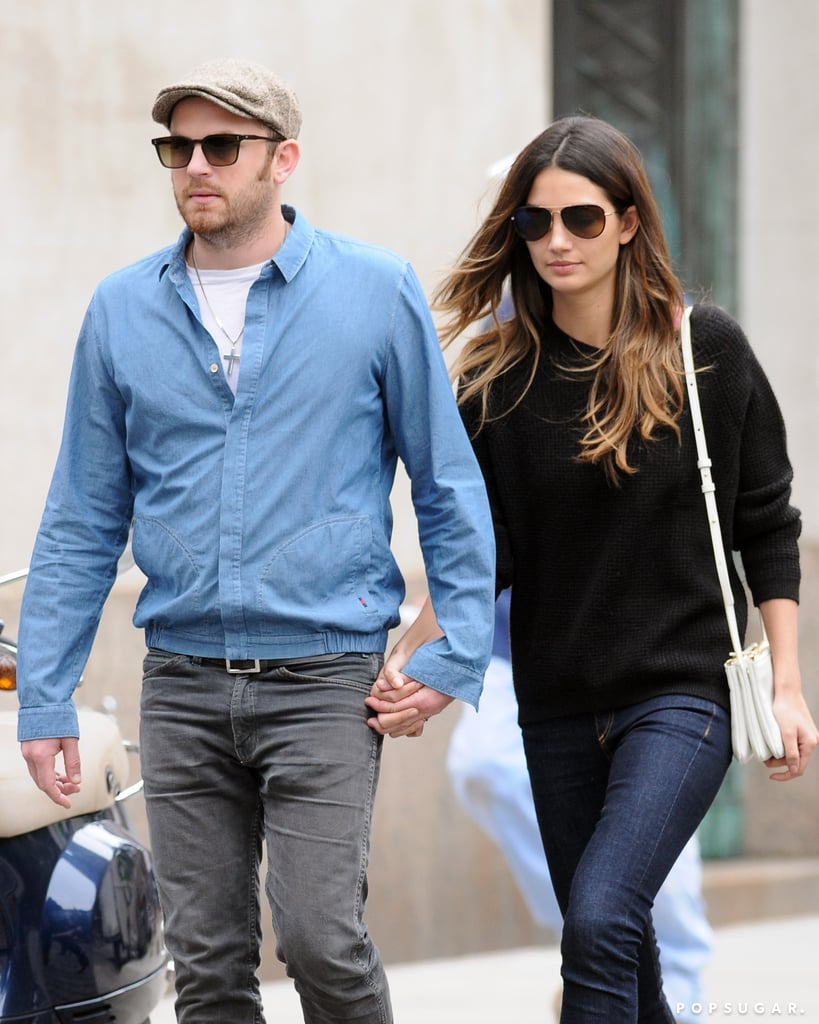 Lily Aldridge held hands with her husband, Caleb Followill, in NYC.