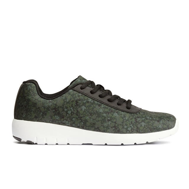 H&M Green Patterned Sneakers ($35)