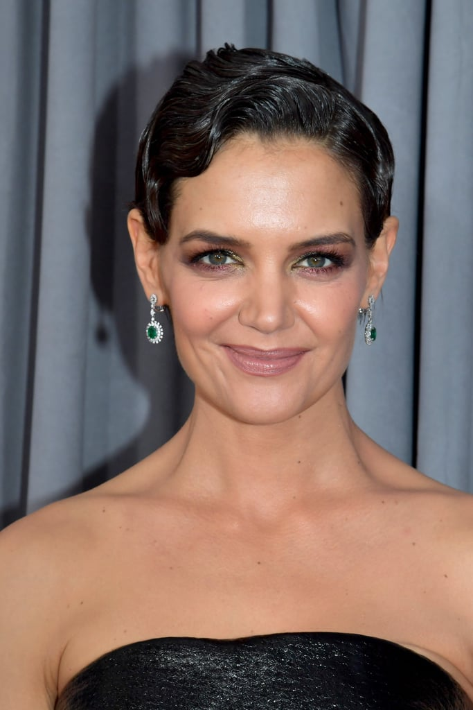 Katie Holmes Gray Hair At The 2018 Grammys Popsugar Beauty