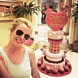 Britney Spears was gifted with a giant cake by her boyfriend, Charlie Ebersol.
