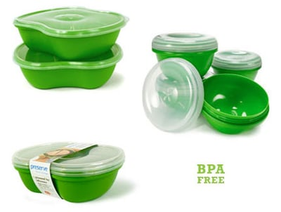 BPA Free Plastic Food Containers From Preserve Products and