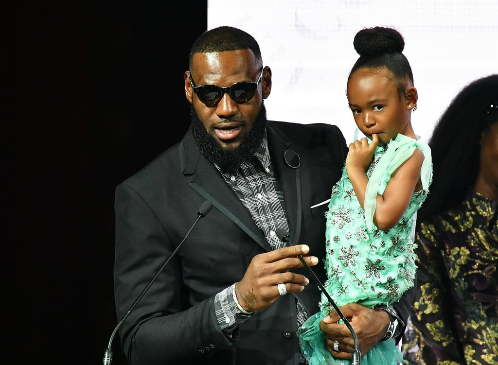 Pictured: LeBron and Zhuri James