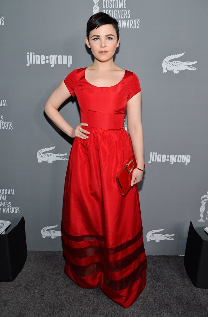 Ginnifer Goodwin was a modern princess in her red short-sleeved gown and a matching red clutch.