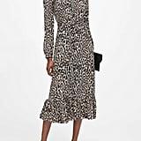 Petite Print Midi Shirt Dress