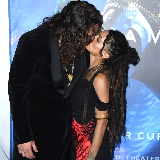 Jason Momoa and Lisa Bonet at the Aquaman Hollywood Premiere