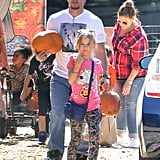 Mark Wahlberg and his brood visited a patch in LA.