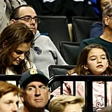 Katie Holmes and Suri Cruise Make a Rare (and Adorable) Appearance at a Basketball Game