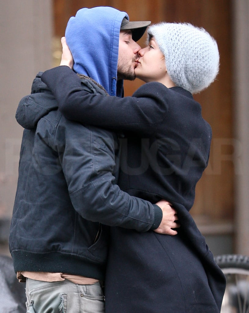 Photos of Carey Mulligan and Shia LaBeouf Kissing on the Street in New York City