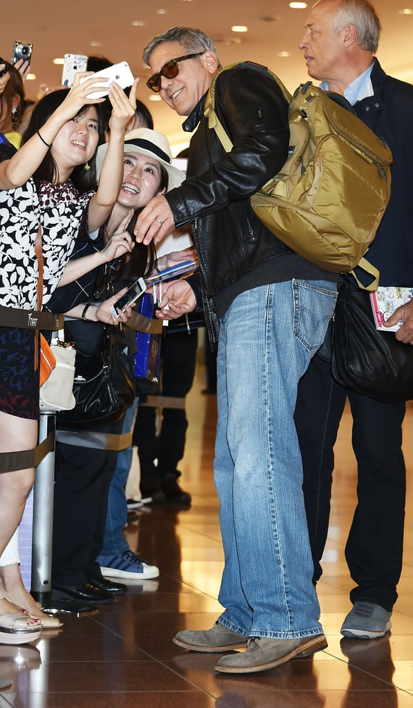 George and Amal Clooney at Tokyo Airport | May 2015