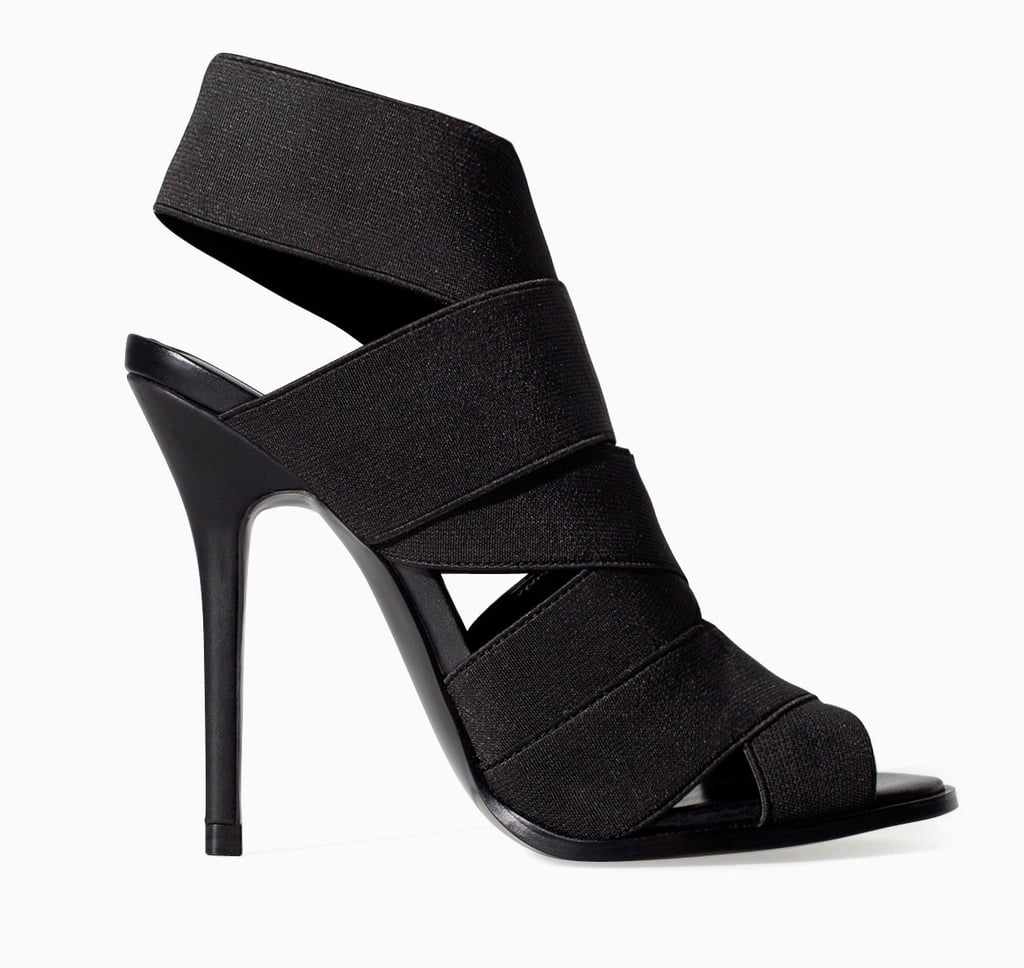 Zara black elastic band high heels ($100)