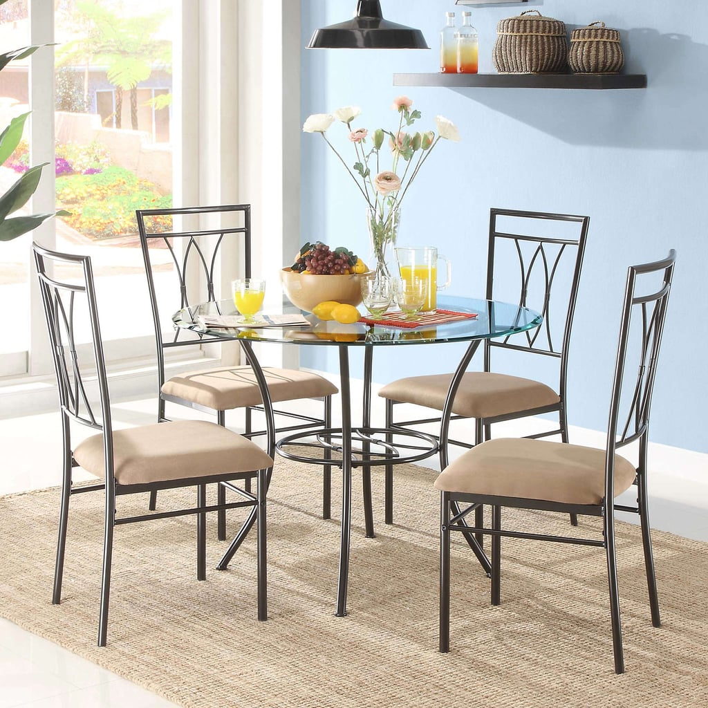 metal dining room sets | Mainstays Glass and Metal Dining Set | Best Dining Room ...