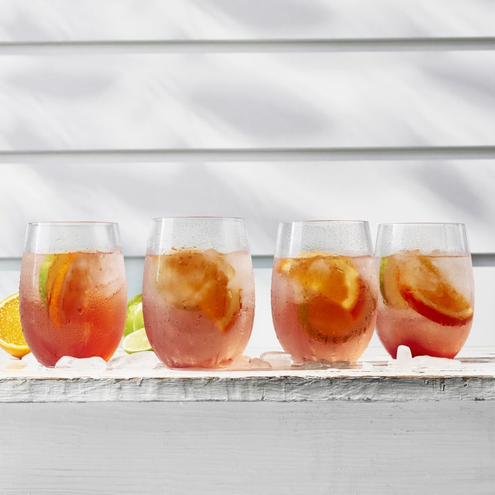 Sur La Table Acrylic Outdoor Stemless Wine Glasses