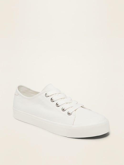 Twill Platform Sneakers For Women