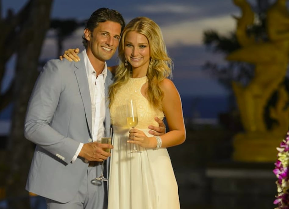 Tim Robards and Anna Heinrich Cute Bachelor Moments