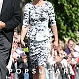 Pippa Middleton smiled on her way into a Northumberland, England, church for Lady Melissa Percy and Thomas van Straubenzee's June 2013 wedding.