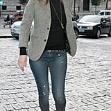 Kate Moss's denim routine is all about blending the London look with a little rocker chic (just check out those boots!).
