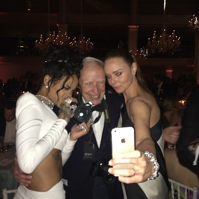 Stella McCartney and Rihanna took a seriously silly selfie.  Source: Instagram user gucciwestman