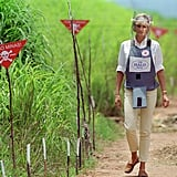 The image of Diana walking in Angola through a former minefield has become one of the most enduring images of her. It is clearly an issue which resonated with Harry, as he took a similar walk through a former minefield in Mozambique in 2010. He later became patron of the charity's 25th anniversary appeal in 2013.