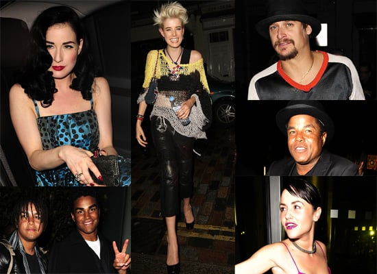 Dita Von Teese, Agyness Deyn And The Jacksons Party Together In London