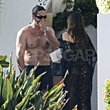 Sofia Vergara in a thong bikini with shirtless Nick Loeb.