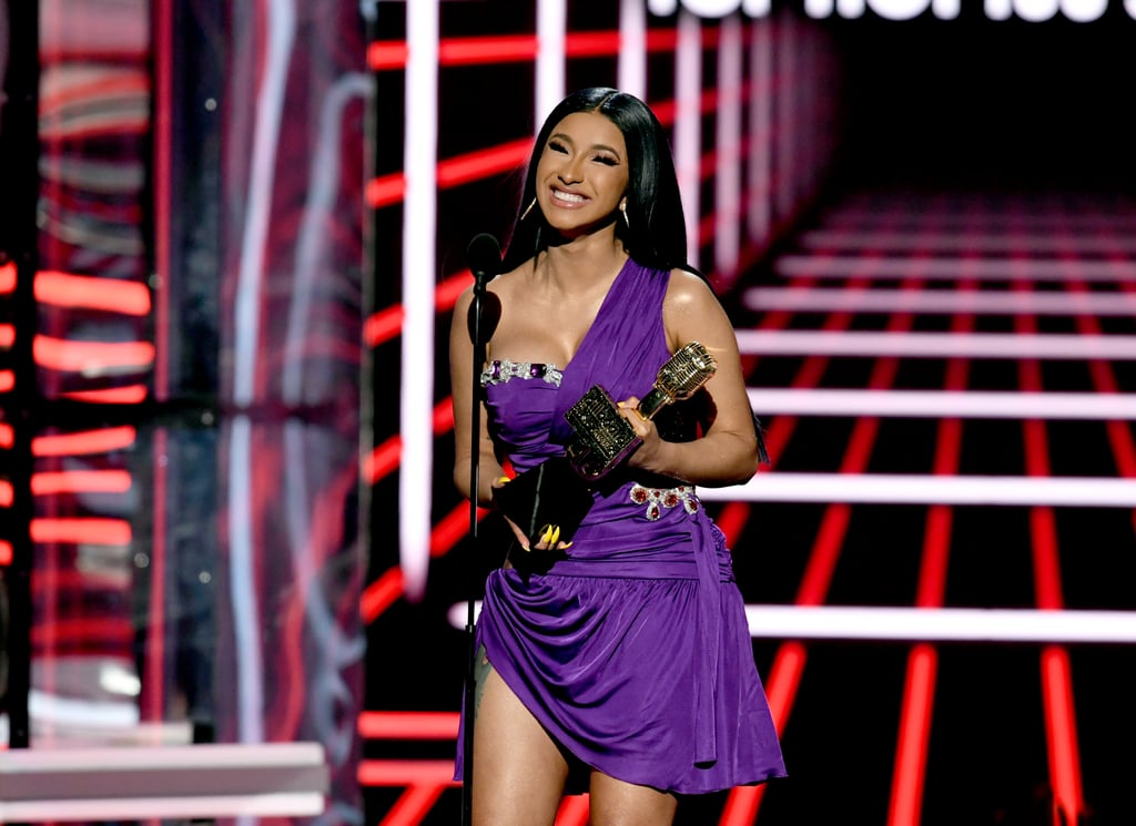 "Just when we thought the 2019 Billboard Music Awards couldn't get any sexier, Cardi B strolled onto the red carpet in a jaw-dropping two-piece. Not only did the rapper look incredible, but she was also giving us serious Cher vibes, and we can't help but think, ""I like it like that!"" Whatever her workout regimen is, we need the details ASAP. It was a big night for Cardi — the rapper was leading the pack with 21 nominations in 18 categories (because when a boss does anything, she does the damn thing), and was even competing against herself in several categories. By the end of the night, she went home with six wins! Ahead, heck out more photos of the rapper (with her three stunning outfit changes) and her partner, Offset, on their night at the BBMAs.       Related:                                                                                                           Cardi B's Cher-Inspired Outfit Is Covered in Gemstones and Diamonds"