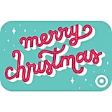 Cursive Merry Christmas Gift Card
