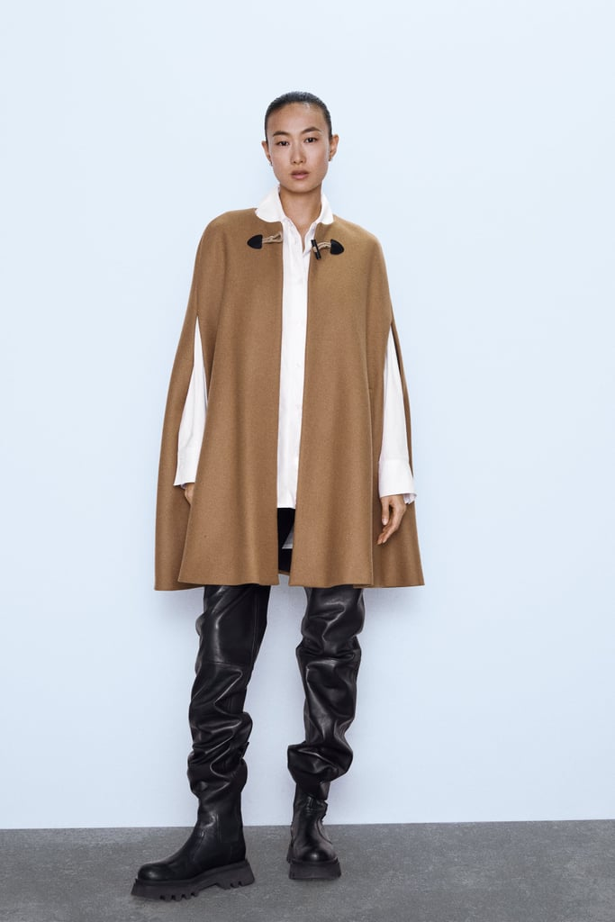 Zara Long Cape with Pockets