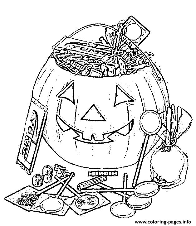Halloween Coloring Pages - Easy Peasy and Fun | 725x628