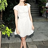 In New York, Nora Zehetner looked adorable and seasonal in a straw hat and LWD for the Australian Fashion Foundation's Summer party.