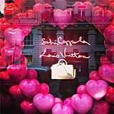 Look what we spotted while window shopping: one of director Sofia Coppola's self-designed window displays celebrating the launch of a mini version of the SC bag she created for Louis Vuitton years ago. We heart it.  Source: Instagram user popsugarfashion