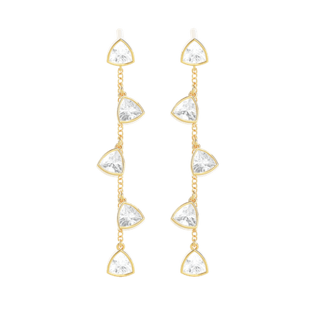 Tiary Drops of Jupiter Earrings