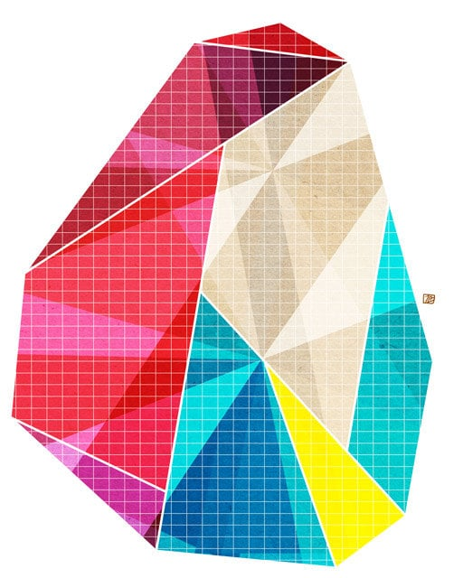 This Geometry Art Print ($20) would add cool, modern color to any wall of your home.