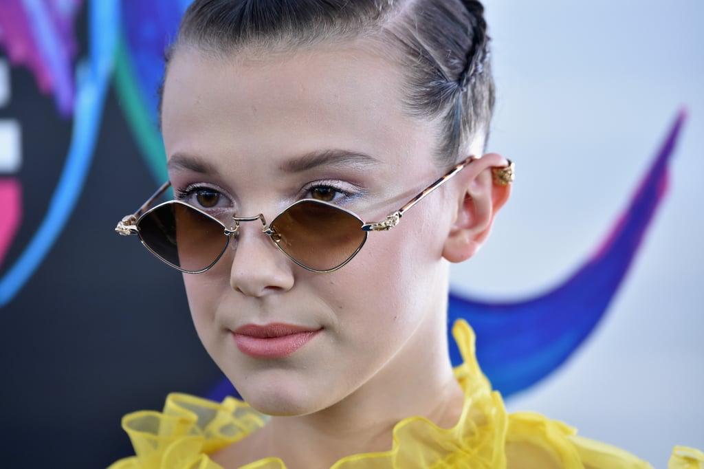 Millie Bobby Brown Yellow Dress at Teen Choice Awards 2017